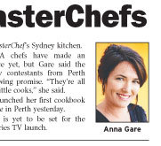 Anna Lifts Lid on Junior MasterChefs